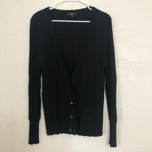 Mossimo Black Button-Down Cardigan